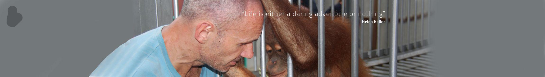 Adrian and Orangutan